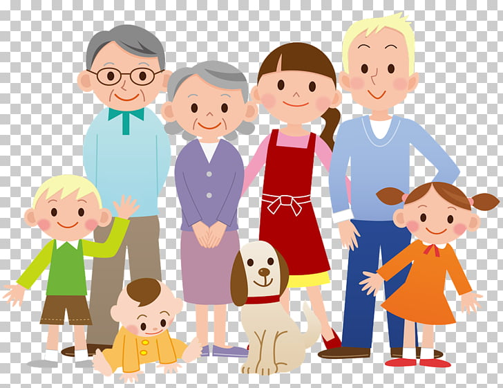 Family Cartoon , Family, family PNG clipart.