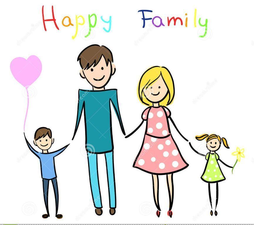 Happy Cartoon Family Clipart Share On Facebook.