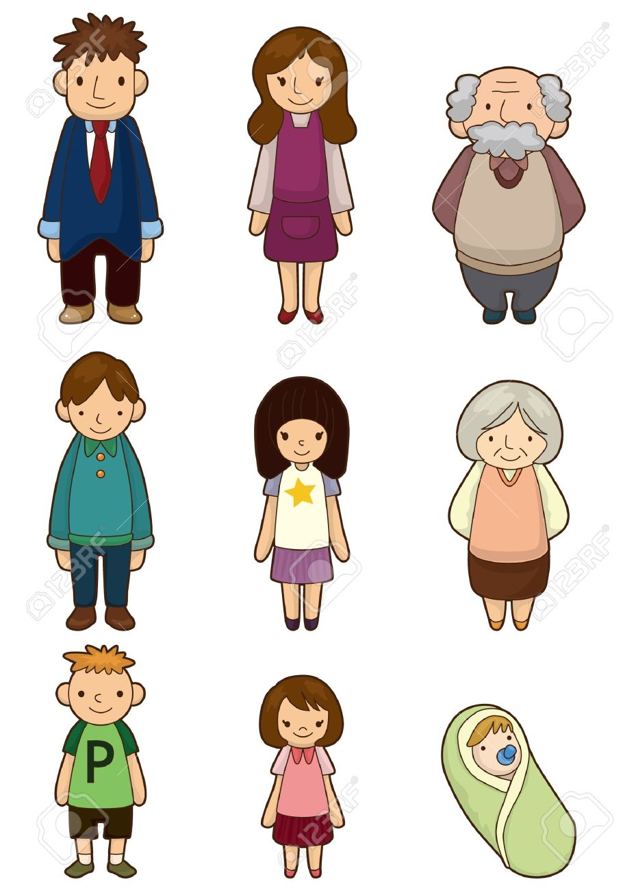 cartoon family icon.