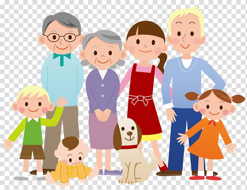 Family , Family Cartoon , Family transparent background PNG.