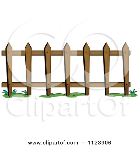 Cartoon Of A Picket Fence 1.