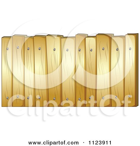 Cartoon Of A Wooden Fence.