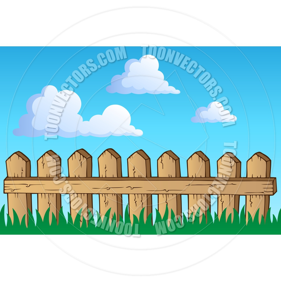 Cartoon Wooden Fence by clairev.