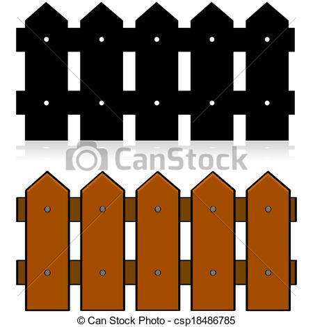 Vector of Picket fence.