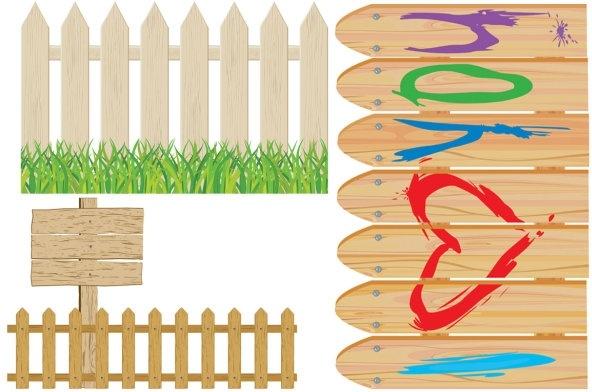 Cartoon clip art fence Free vector in Encapsulated PostScript eps.