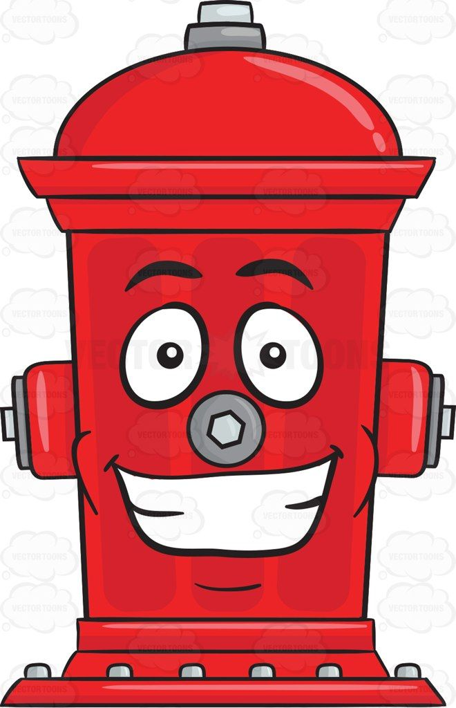 Fire Hydrant With Big Grin On Face Emoji #bolts #clapper.