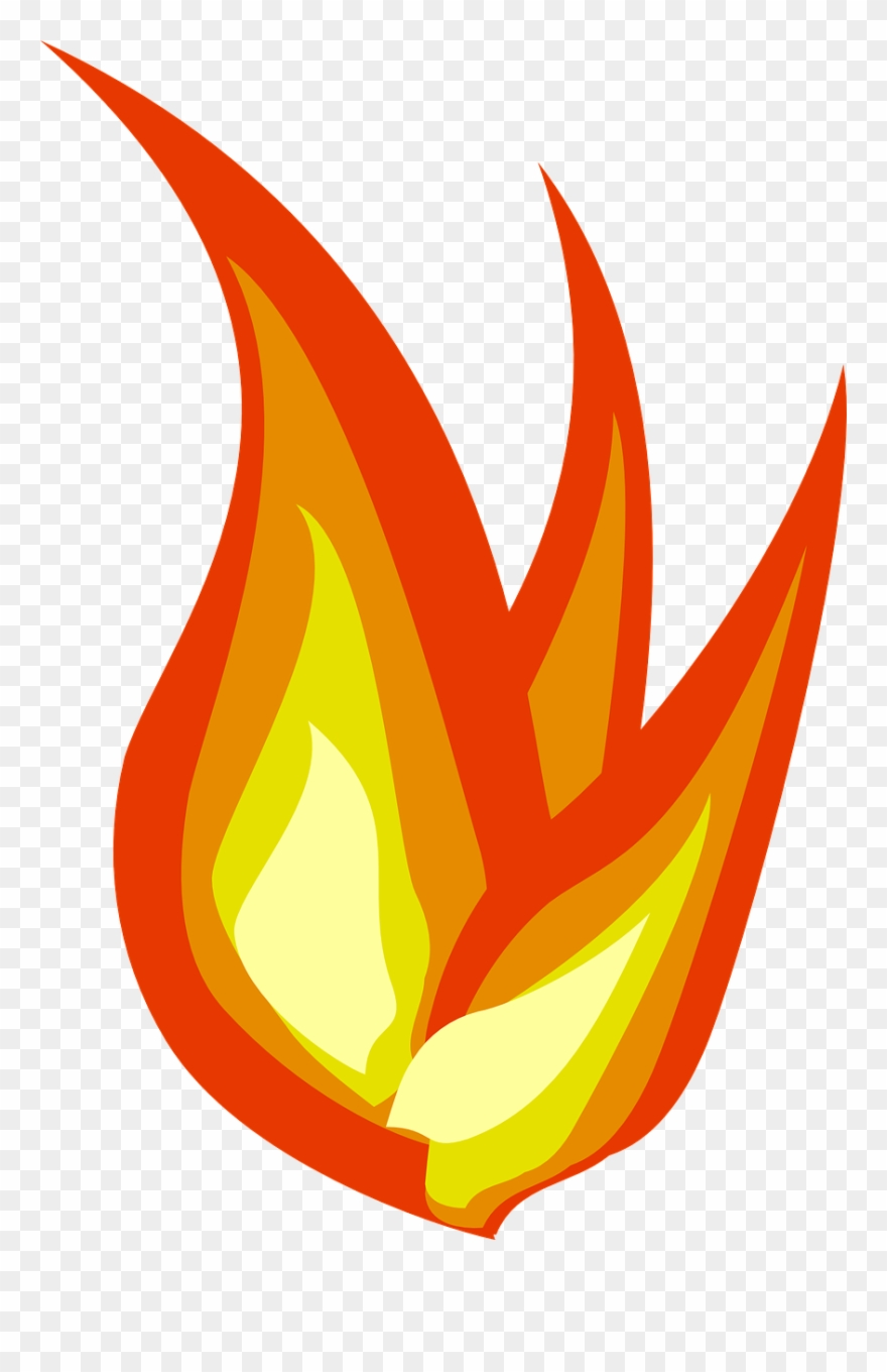 Fire Flames Clipart Transperent.