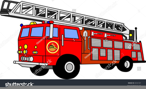 Cartoon Fire Truck Clipart.