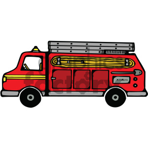 cartoon fire truck clipart. Royalty.