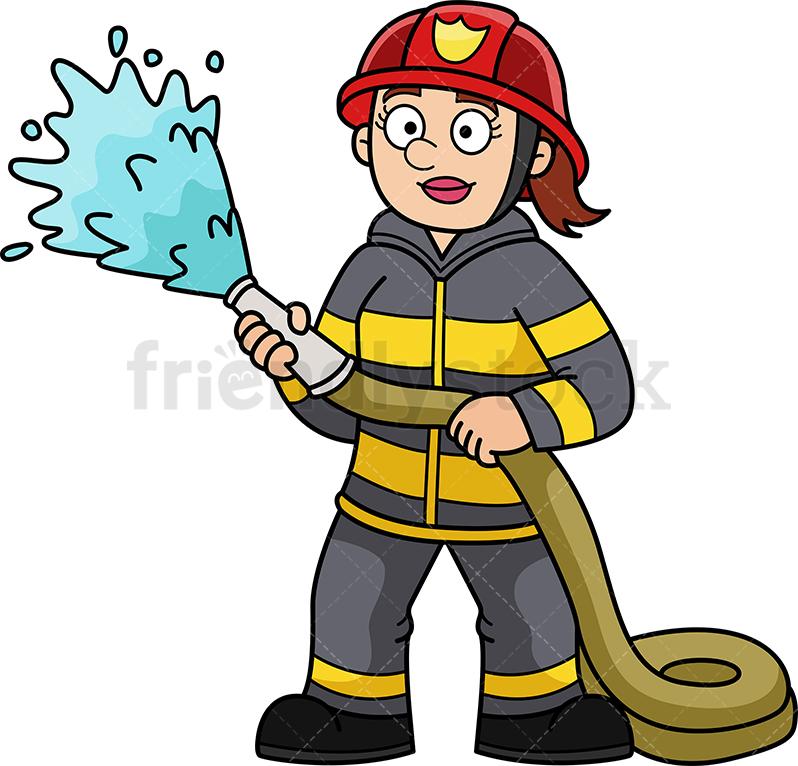 Female Firefighter.