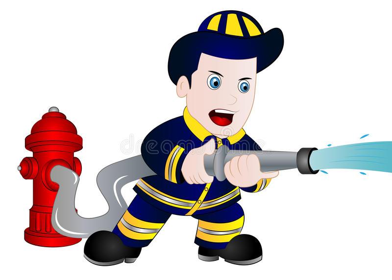 Cartoon Fireman Stock Illustrations.