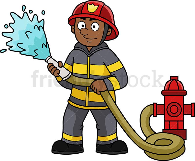 Black Firefighter.