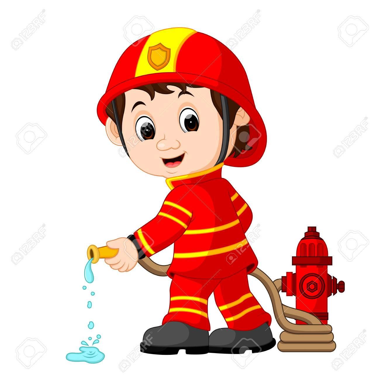 Firemen Cartoon.
