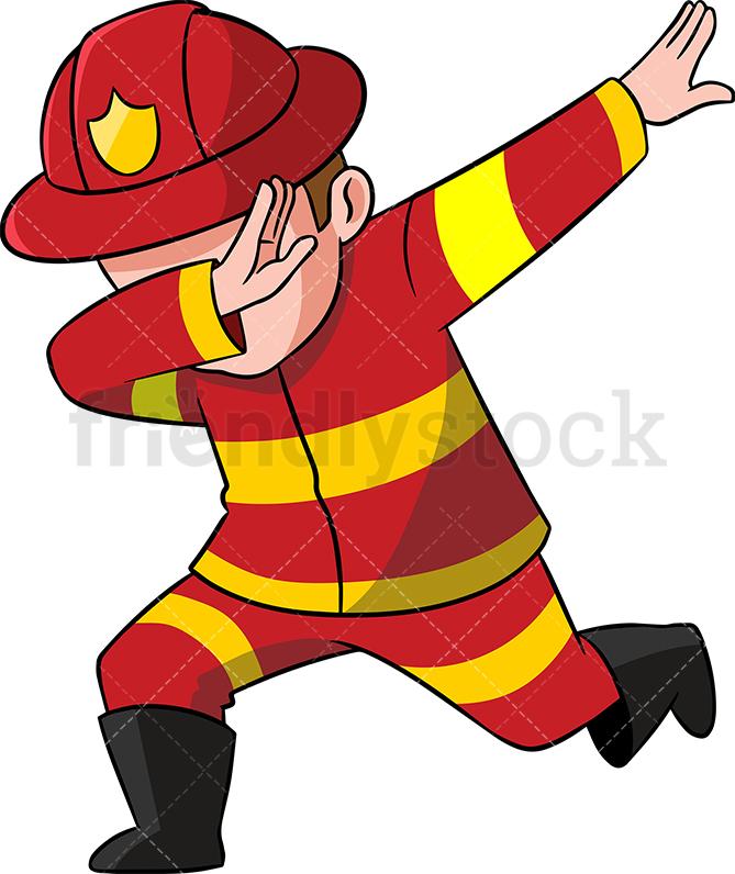 Dabbing Firefighter.