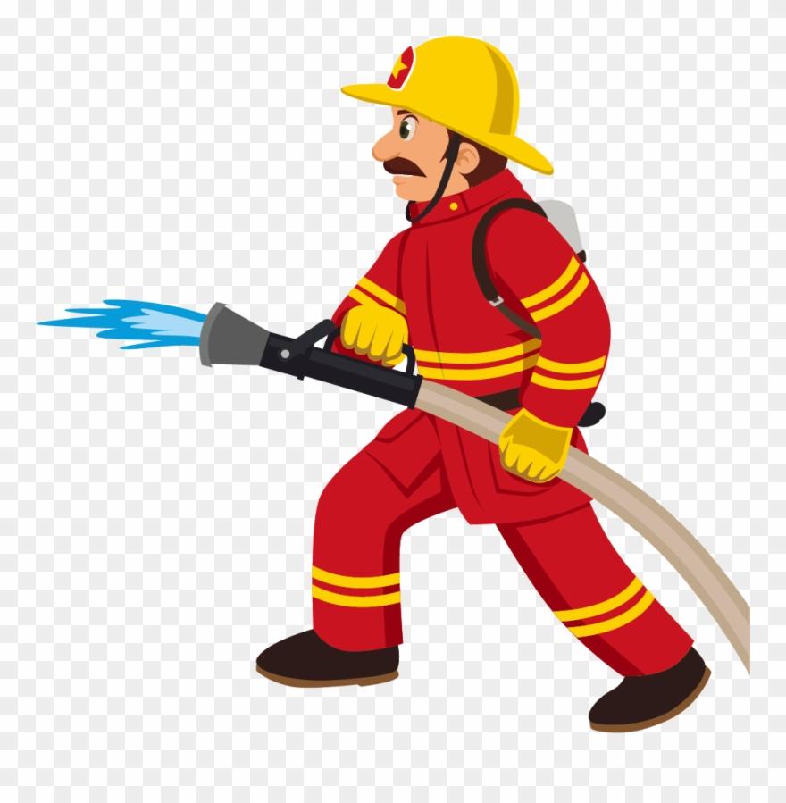 Cartoon Fireman.