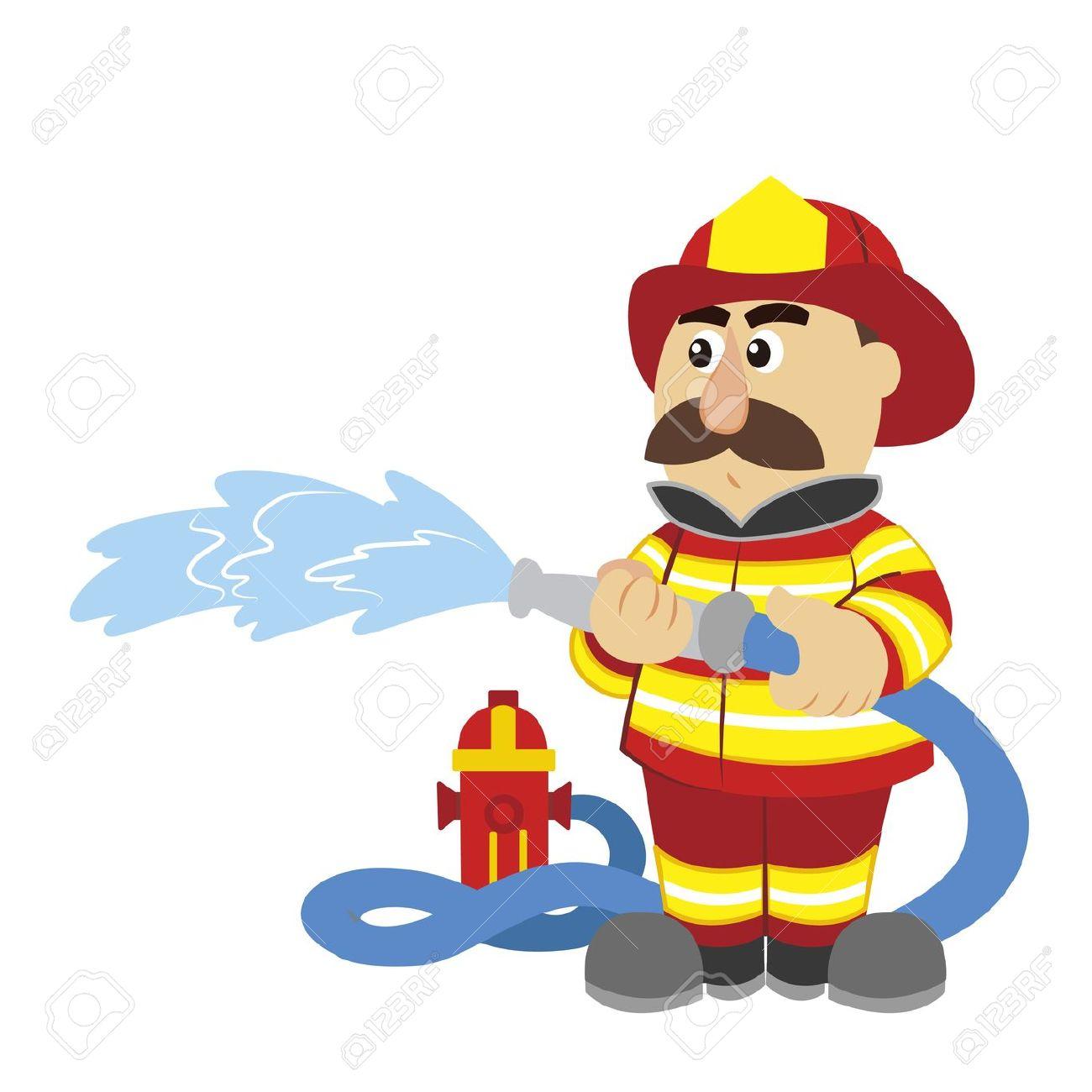 Funny Firefighter Cartoon.