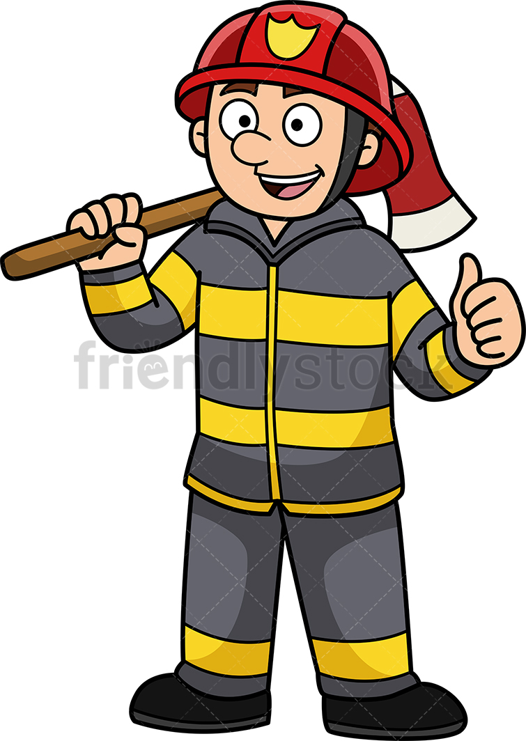 Confident Firefighter.