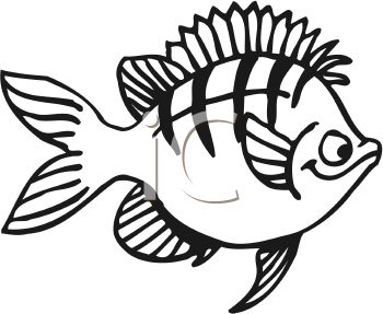Black And White Clipart Of Fish.