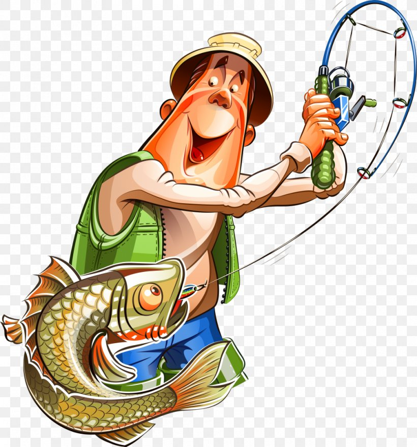 Fishing Cartoon Fisherman Clip Art, PNG, 1008x1080px.
