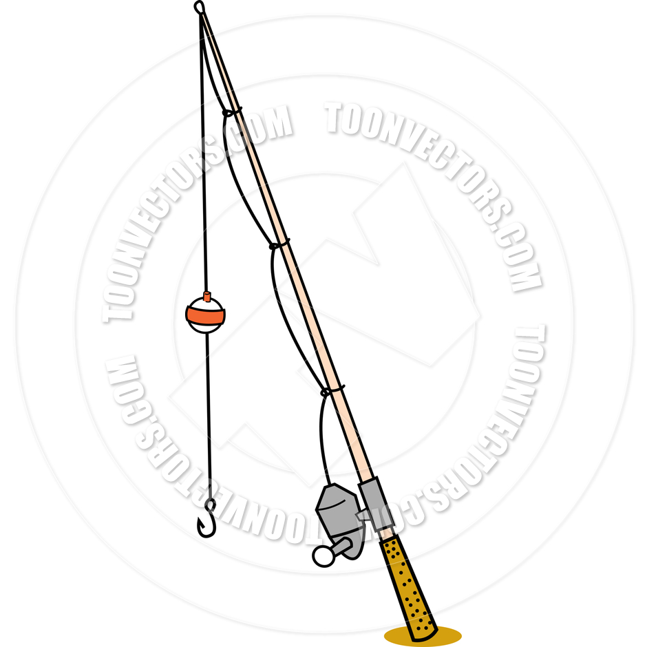 Cartoon fishing rod clipart.