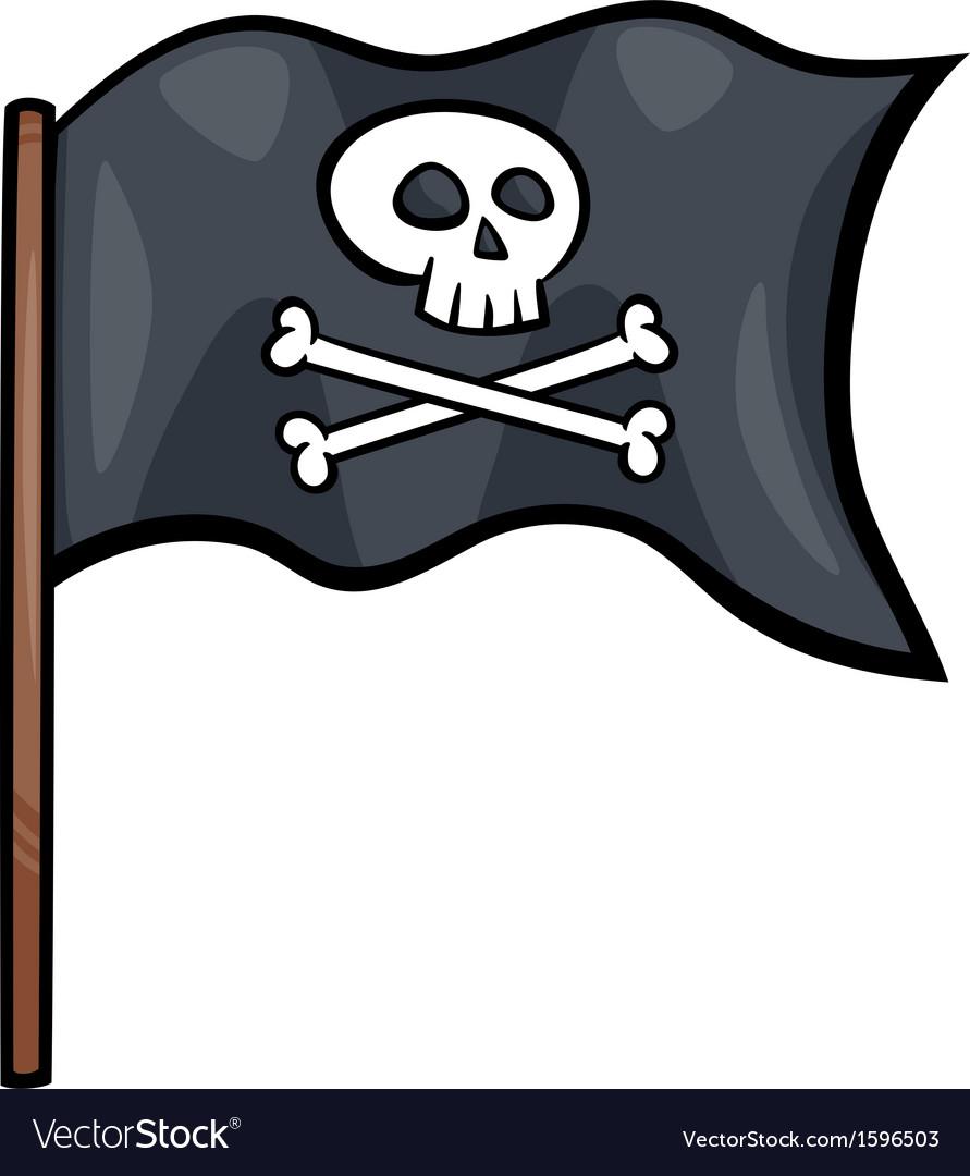 Pirate flag cartoon clip art.
