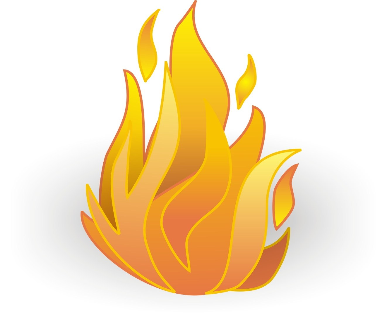 Cartoon flames clipart 3 » Clipart Portal.