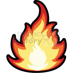 cartoon fire clipart. Royalty.