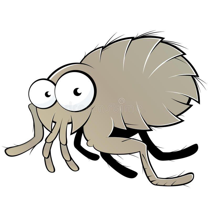 Flea illustration. An illustration of a flea character.