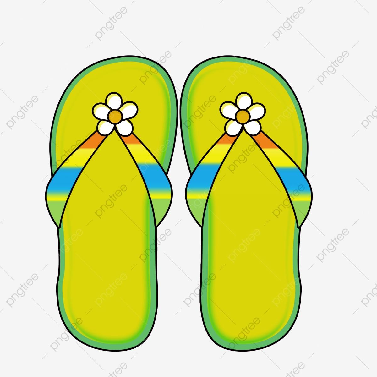 Flip Flop Cartoon Slippers Beach Slippers Summer, Summer Vacation.