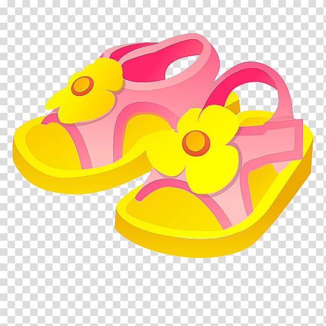Slipper Sandal Shoe, Cartoon sandals transparent background PNG.