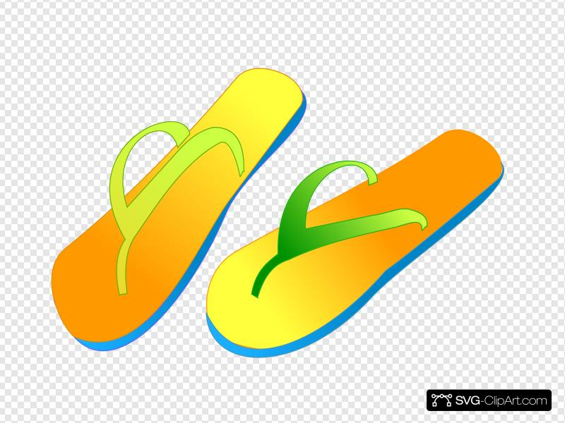 Flip Flops Clip art, Icon and SVG.
