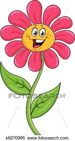 Cartoon flower Clipart.