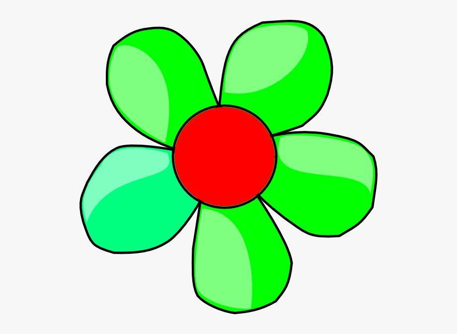 Green Flower Clip Art.
