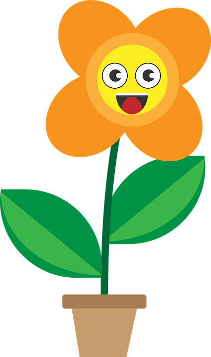 Flower Cartoon Smileys.