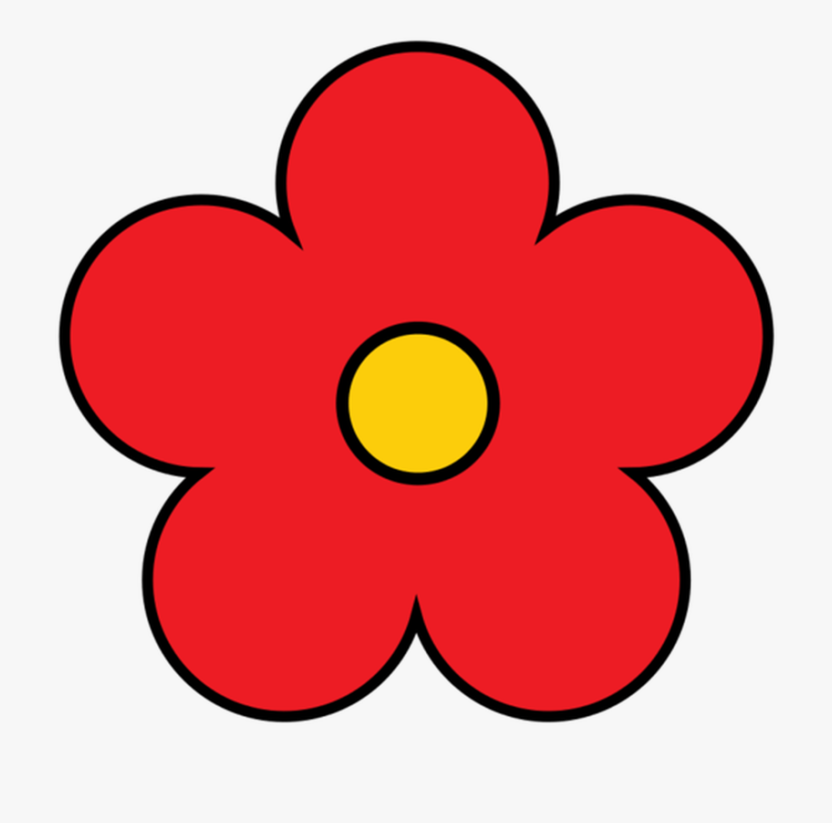Flower Clipart Cute Flower Flower Pretty Flower Red.