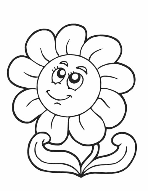 Free Cute Flower Clipart Black And White, Download Free Clip.