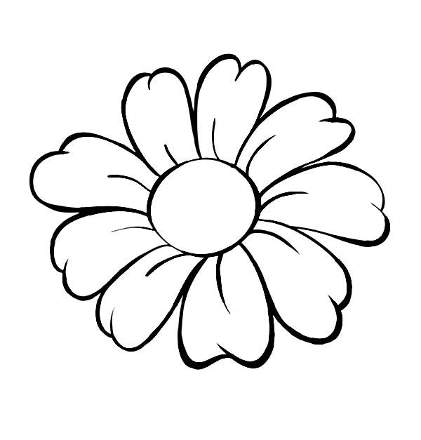Cartoon Flower Outline