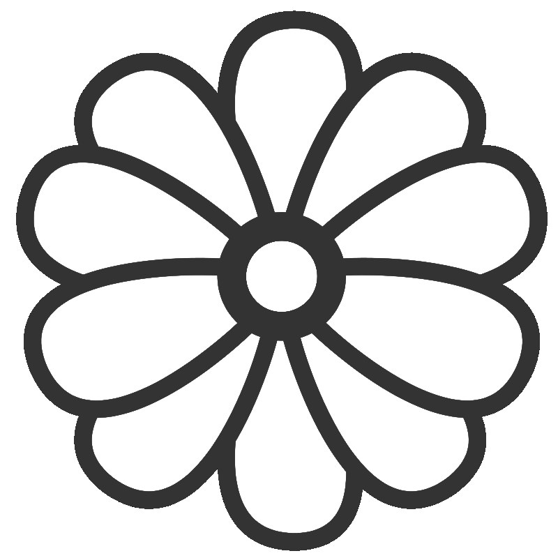Cartoon Flower Coloring Page.