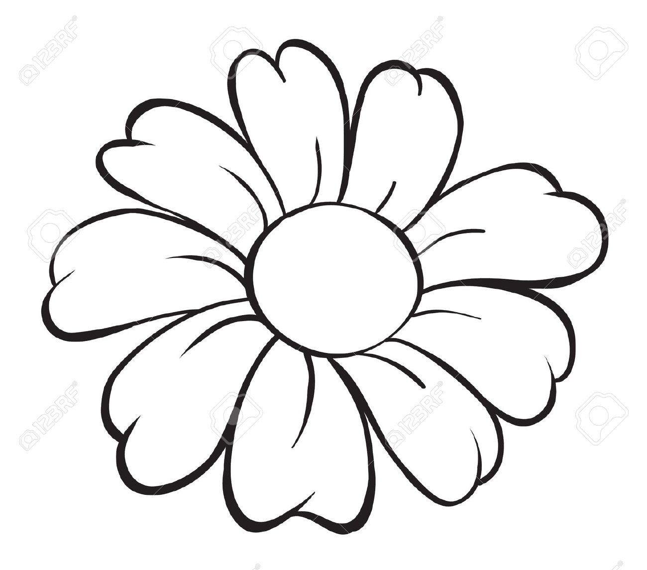 Black To Black Flowers 4: Cartoon Flower Outline 20 Free Cliparts