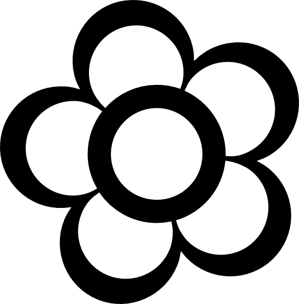 Flower Outline Clip Art at Clker.com.