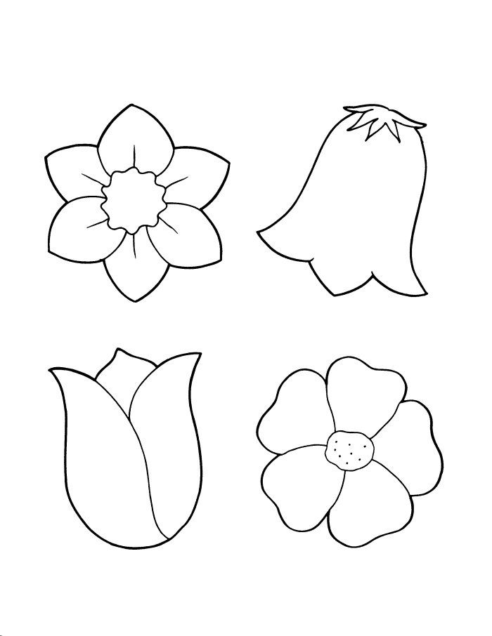 small flower coloring pages - photo#13
