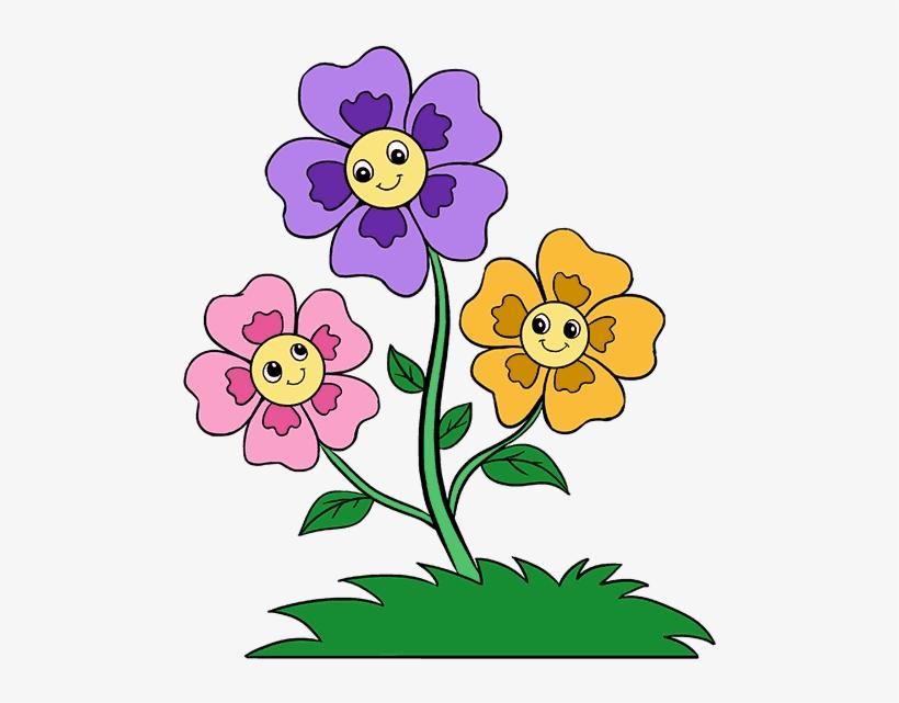 Cartoon Flowers Png.