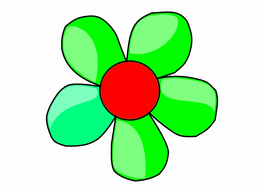 Cartoon Flowers Clipart Green Free PNG Images & Clipart Download.