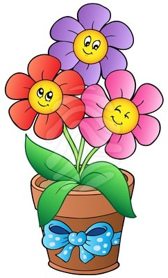 clip art flower pot.