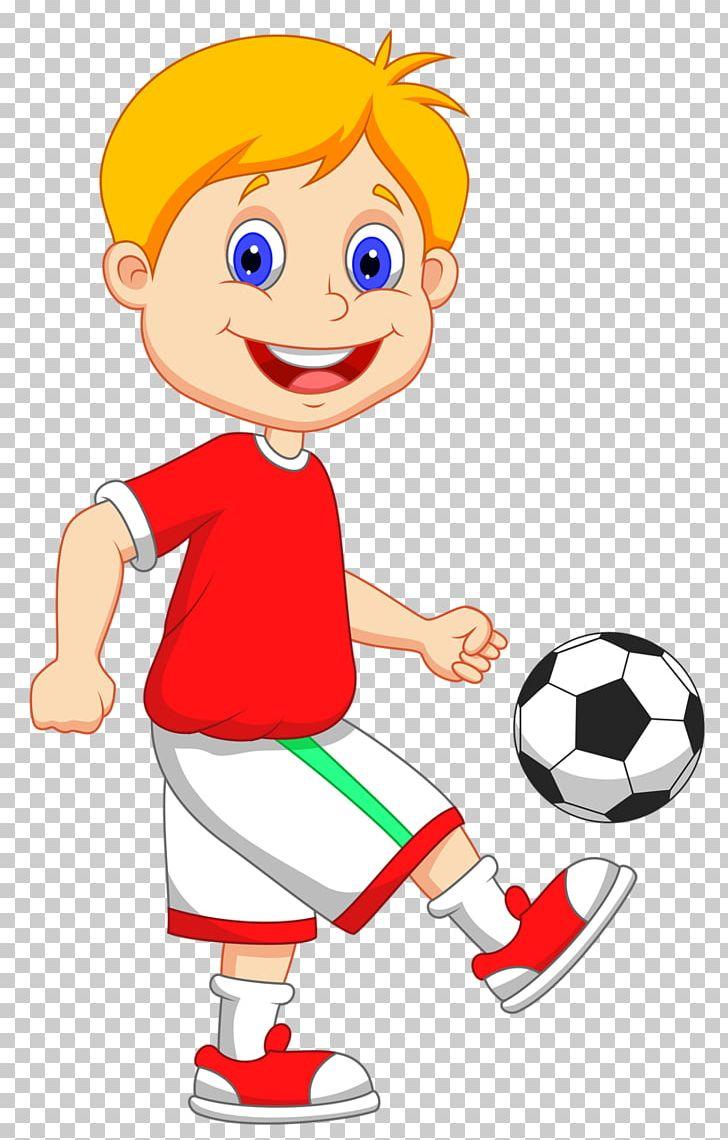Football Player Cartoon PNG, Clipart, Area, Artwork, Ball, Boy.