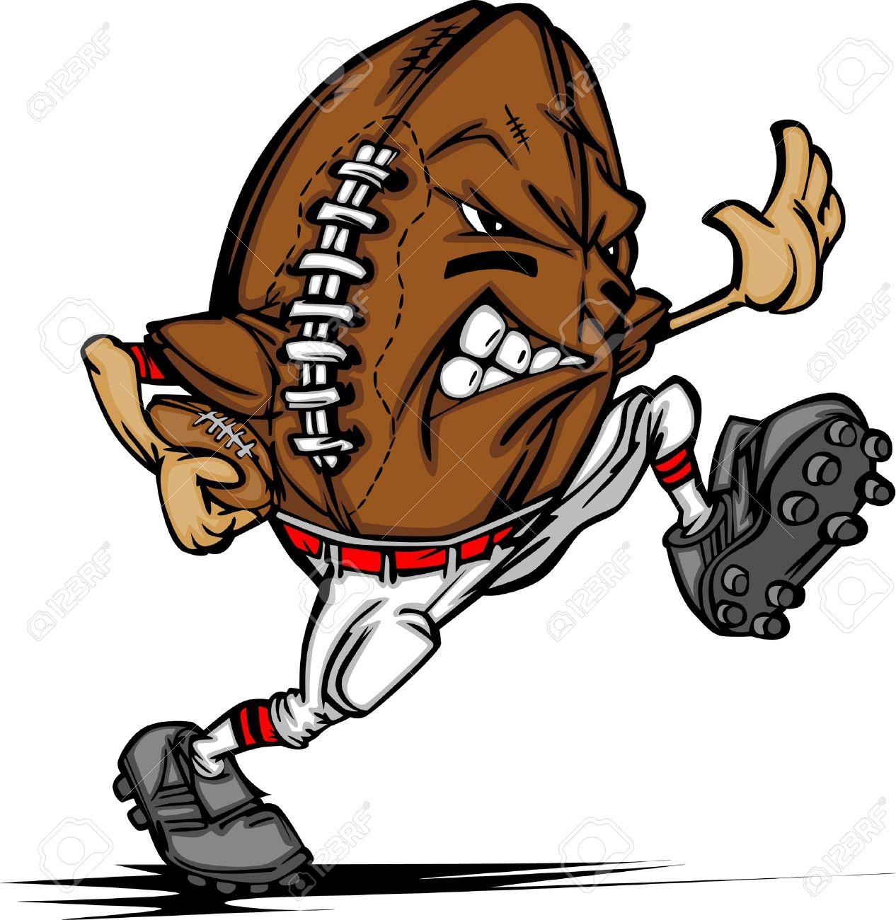American Football Ball Player Cartoon.
