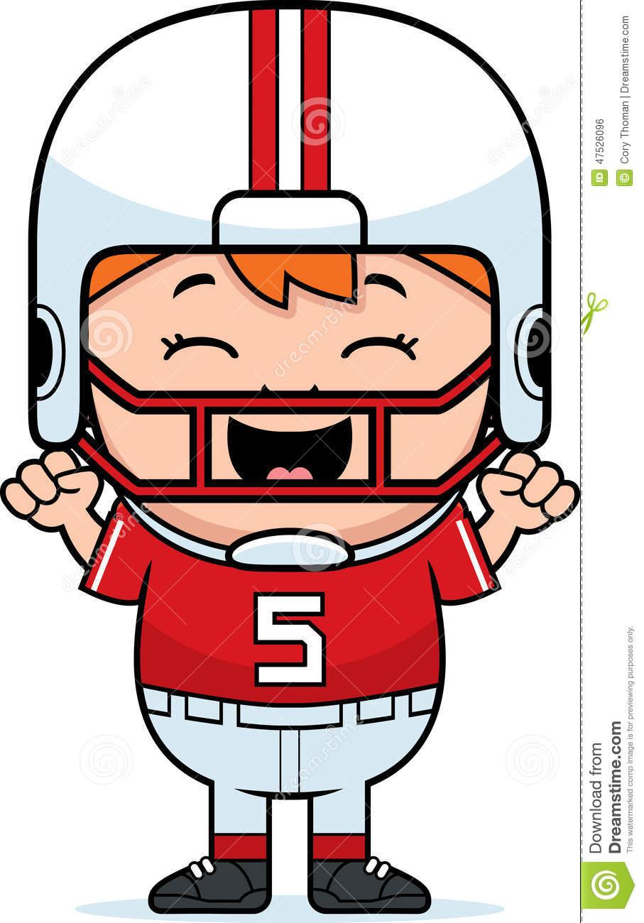 Cartoon Football Celebrate stock vector. Illustration of clipart.