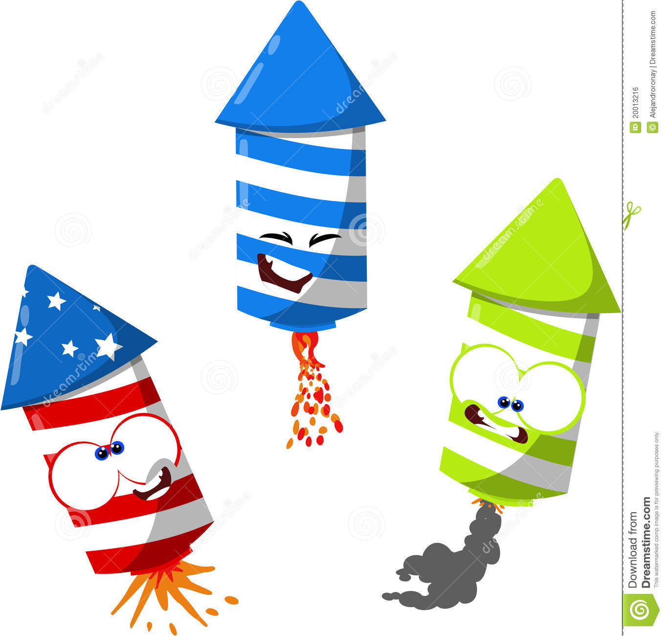 Cute 4th of july fireworks stock illustration. Illustration of.