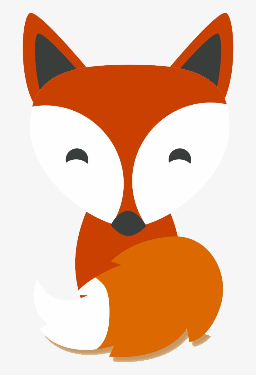 Red Fox Cartoon Drawing Illustration.