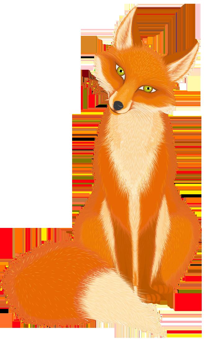 Transparent Cartoon Fox PNG Picture.
